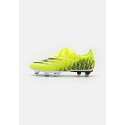 アディダス ブーツ&レインブーツ メンズ シューズ X GHOSTED.3 SG - Screw-in stud football boots - solar yellow/core black/royal blue