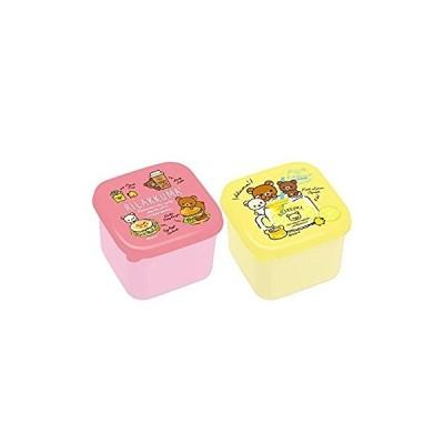リラックマ ランチマーケット ミニシール容器(ピンク・イエロー)2個セット KY61901