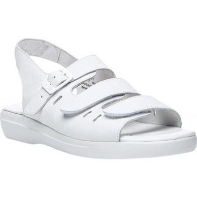 プロペット Propet レディース サンダル・ミュール シューズ・靴 Breeze Walker White Grain