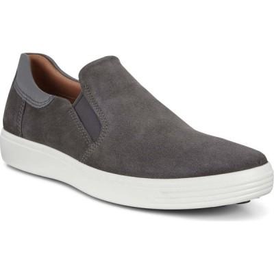 エコー ECCO メンズ スリッポン・フラット スニーカー シューズ・靴 Soft 7 Street Slip-On Sneaker Magnet/Dark Shadow Nubuck
