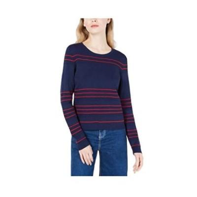 Maison Jules Striped Textured Sweater, BLU Notte XL並行輸入品 送料無料