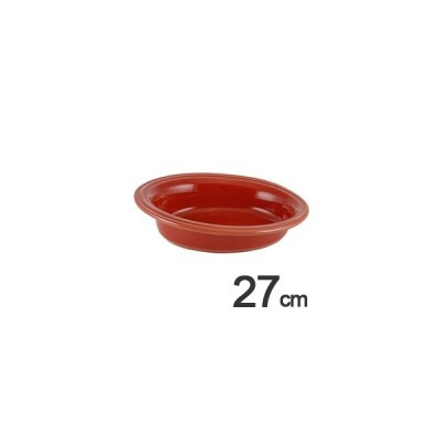 アポーリア オーブンウェア ガイア オーバル ベーキングディッシュ 27cm レッド