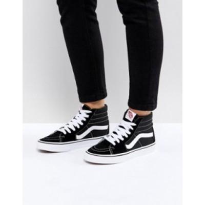 バンズ レディース スニーカー シューズ Vans SK8-Hi black sneakers Black