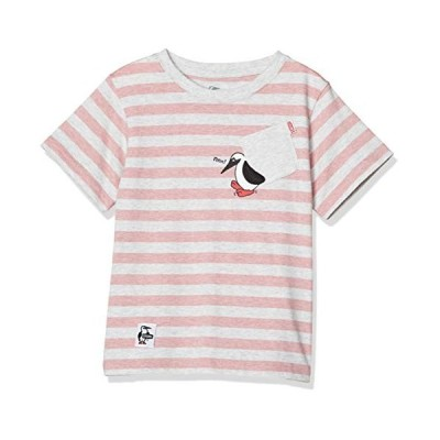 チャムス Tシャツ Kid's Booby Carry Pocket T-Shirt キッズ H-Pink/White 日本 XL (日本サ