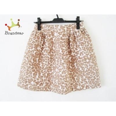 エムズグレイシー スカート サイズ36 S レディース 美品 白×ライトブラウン×ベージュ  値下げ 20200804