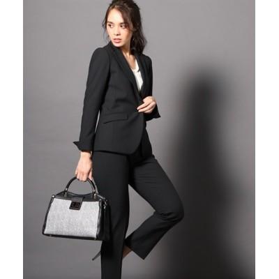 洗えるタテヨコストレッチ9分丈パンツスーツ(ジャケット+9分丈パンツ)【レディーススーツ】 (レディース)スーツ, women's suits,  plus size women's suits
