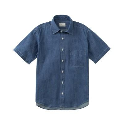 CANTERBURY WOOD(カンタベリーウッド)デニム半袖カジュアルシャツ カジュアルシャツ, Shirts,
