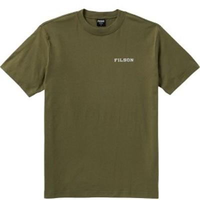 フィルソン メンズ Tシャツ トップス Ranger Graphic Fast Track T-Shirt Burnt Olive/Triangle