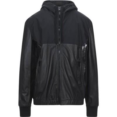 ディーゼル DIESEL メンズ レザージャケット アウター Leather Jacket Black