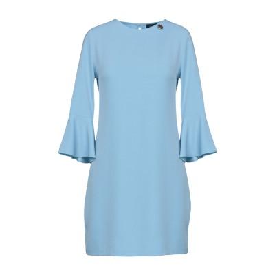 MANGANO ミニワンピース&ドレス スカイブルー S 95% ポリエステル 5% ポリウレタン ミニワンピース&ドレス