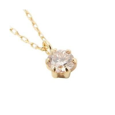 (ワンスレッド) One thread ダイヤモンド ネックレス 一粒 18金 イエローゴールド ネックレス チェーン 鑑別書 K18 ダイヤネックレ