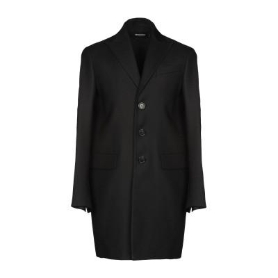 ディースクエアード DSQUARED2 コート ブラック 48 バージンウール 64% / シルク 36% コート