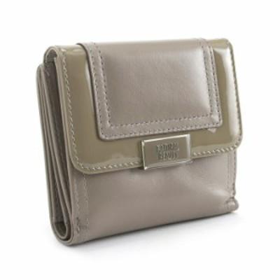 展示品箱なし ナチュラルビューティーベーシック 財布 二つ折り財布 グレー(ベージュがかったグレーです。) NATURAL BEAUTY BASIC nrlw3g