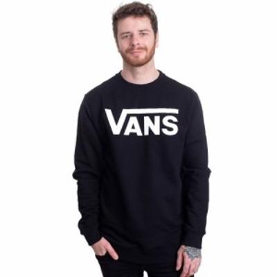 ヴァンズ Vans メンズ スウェット・トレーナー トップス - Classic Crew II Black/White - Sweater black