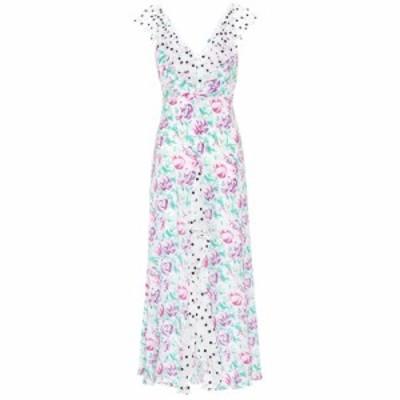 リキソ Rixo レディース ワンピース マキシ丈 ワンピース・ドレス Antoinette floral silk maxi dress polka dot italian floral