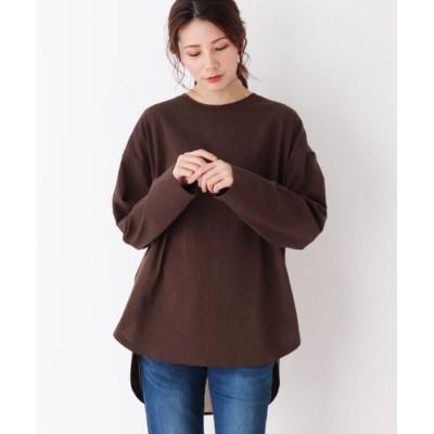 SHOO・LA・RUE/シューラルー 【M-LL】空紡糸バックスリットリボンプル ブラウン(042) 03(L)