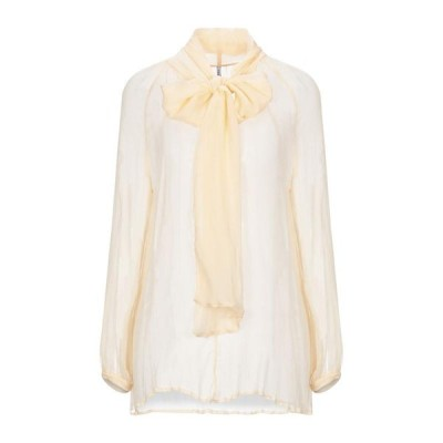 LIVIANA CONTI シルクシャツ&ブラウス ファッション  レディースファッション  トップス  シャツ、ブラウス  長袖 あんず色