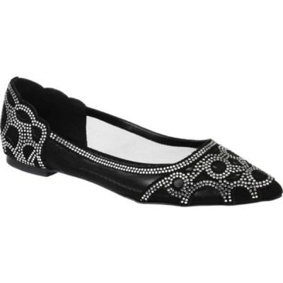 ジャーニーコレクション サンダル シューズ レディース Batavia Pointed Toe Flat (Women's) Black Synthetic/Mesh Fabric