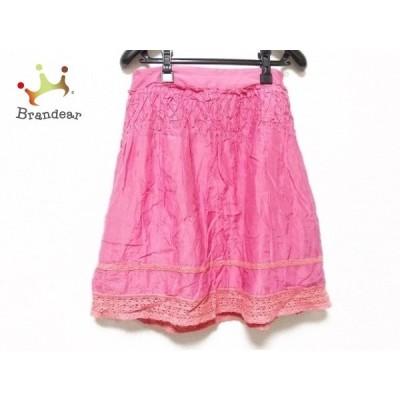 ジャスグリッティー JUSGLITTY スカート サイズ2 M レディース ピンク       スペシャル特価 20200825
