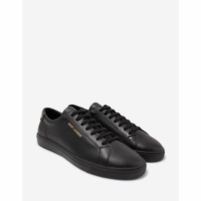 イヴ サンローラン Saint Laurent メンズ スニーカー シューズ・靴 Andy Black Stud-Embellished Leather Trainers Black