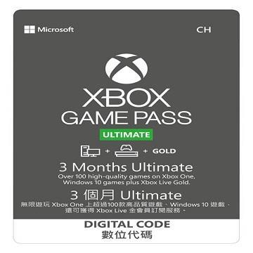 Xbox Game Pass Ultimate 3個月 實體卡(QHX-00011(終極版-實體卡))