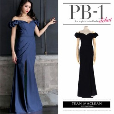 JEANMACLEAN ドレス ジャンマクレーン キャバドレス ナイトドレス ロングドレス jean maclean ダークブルー 紺 9号 M 75114 クラブ スナ