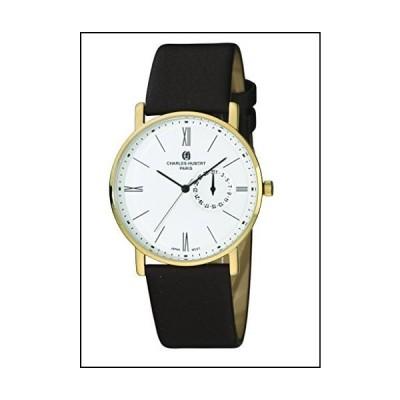 Mens Charles Hubert Stainless Steel White Dial Dress Watch[並行輸入品]