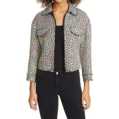 アルマーニ EMPORIO ARMANI レディース ジャケット アウター Tweed Knit Jacket Pink Multi