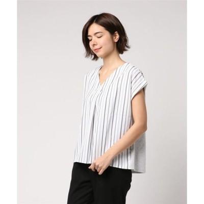 tシャツ Tシャツ 異素材ストライププルオーバー