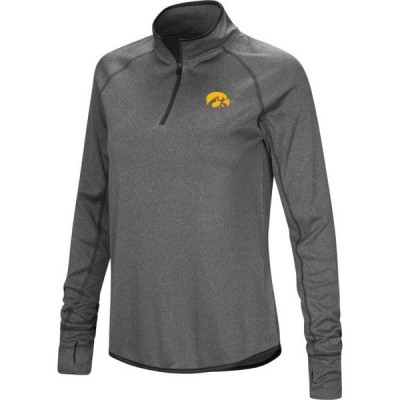 レディース 衣類 トップス Colosseum Women's Iowa Hawkeyes Grey Stingray Quarter-Zip Shirt ブラウス&シャツ
