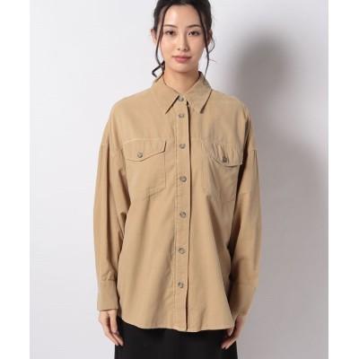 (BENETTON (women)/ベネトン レディース)コットンビッグポケットオーバーサイズシャツ・ブラウス/レディース ベージュ