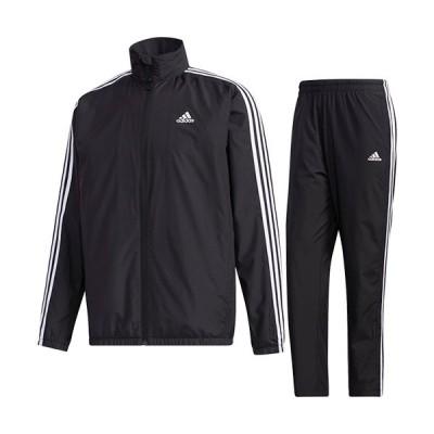 アディダス(adidas) メンズ マストハブ 3ストライプ ウインドジャケット & ウインドパンツ 上下セット ブラック/ブラック IXG12 GE0406/IXG07 GE0428