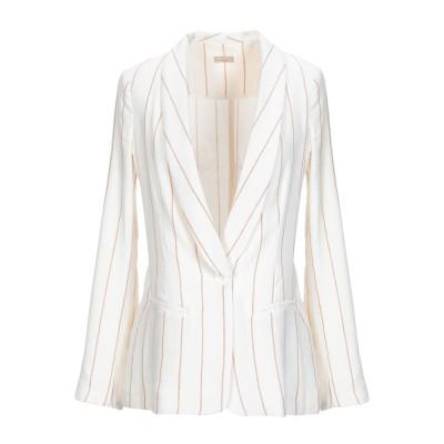 EMMA テーラードジャケット ホワイト XS 麻 35% / レーヨン 35% / コットン 30% テーラードジャケット
