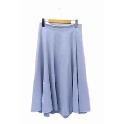 【中古】エストネーション ESTNATION 18SS フレア ロング フィッシュテール スカート 38 ペールブルー レディース