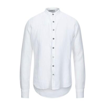 アルファスタジオ ALPHA STUDIO シャツ ホワイト 52 麻 100% シャツ