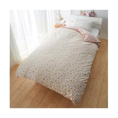 綿100%掛カバー(衿チェック柄フリル付フラワー柄) 掛け布団カバー, Bedding Duvet Covers(ニッセン、nissen)