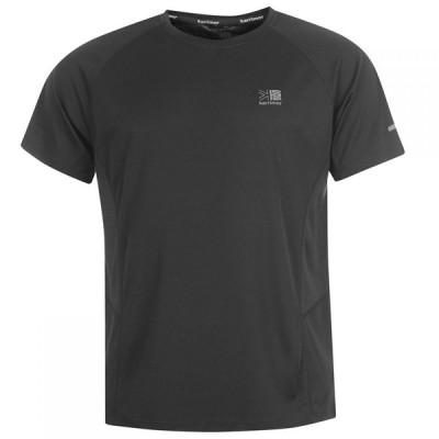 カリマー Karrimor メンズ Tシャツ トップス Short Sleeve Run T Shirt Black