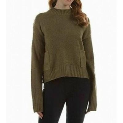 ファッション トップス Allie & Rob NEW Green Womens Size XL Mock Neck Rib Knit Sweater