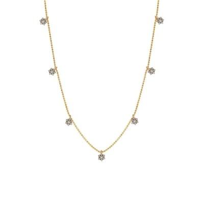 スージレビアン レディース ネックレス・チョーカー・ペンダントトップ アクセサリー 14K Yellow Gold Diamond Clover Necklace - 0.30 ctw GOLD