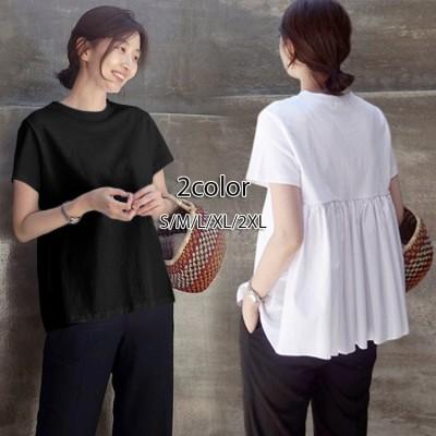 韓国のファッションコレクション Tシャツ 半袖 ドールシャツ コットンTシャツ ジャケット ティーシャツ