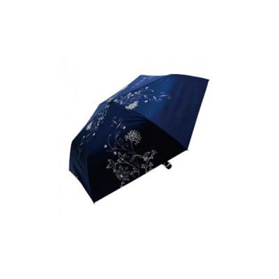 藤田屋 晴雨兼用 折り畳み傘 パルテール 50cm ネイビー SM-1810