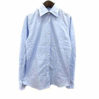 【中古】オリアン ORIAN シャツ 長袖 38 青 ブルー /YK レディース