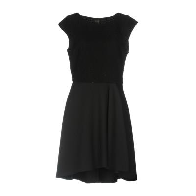 リュー ジョー LIU •JO ミニワンピース&ドレス ブラック 44 64% コットン 30% ナイロン 6% ポリウレタン ミニワンピース&ドレス