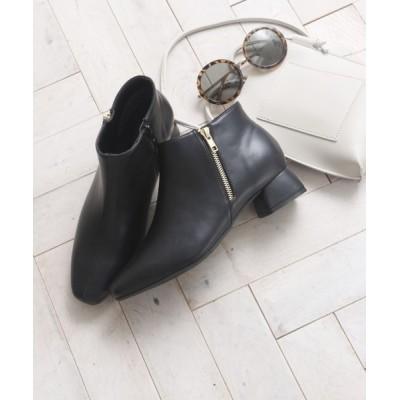 VIVIAN COLLECTION / スクエアトゥサイドファスナーショートブーツ WOMEN シューズ > ブーツ