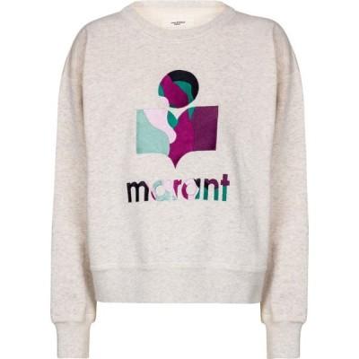 イザベル マラン Isabel Marant, Etoile レディース スウェット・トレーナー トップス Mobyli logo cotton-blend sweatshirt Ecru