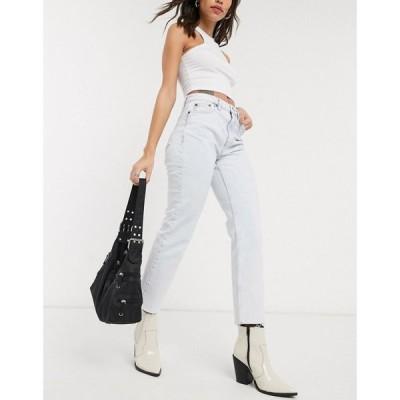 トップショップ Topshop レディース ジーンズ・デニム ボトムス・パンツ straight leg jeans in super bleach wash ブルー