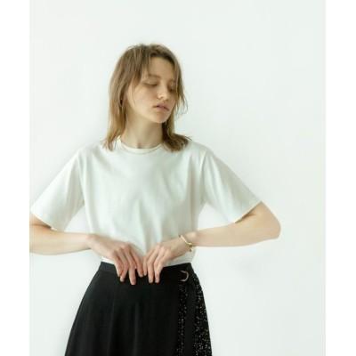 (OPAQUE.CLIP/オペーク ドット クリップ)GIZA COTTON天竺 ベーシッククルーネックTシャツ/レディース オフホワイト(003)