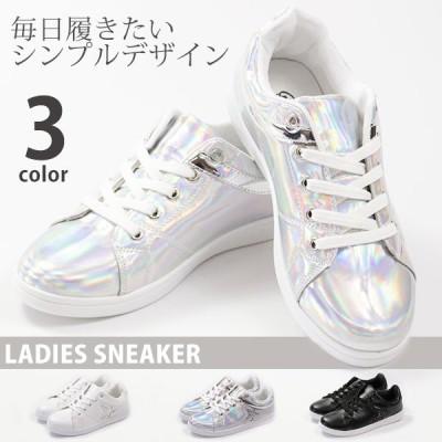 スニーカー レディース 靴 女性 ローカット シンプル ラメ 星 スター 通学 白 黒 セントマーチン ST.MARTIN 2078