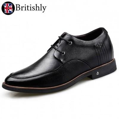 Britishly(ブリティッシュリィ) Somerset mkII Black Casual 6.5cmアップ 英国式シークレットシューズ