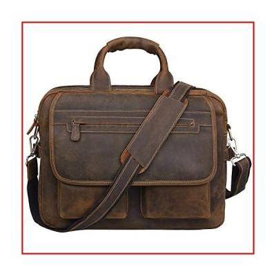 Jack&Chris Men's Handmade Leather Briefcase Laptop Bag Messenger Shoulder Bag,NM1862【並行輸入品】